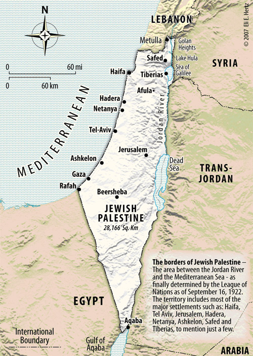 Map Of Palestine In The Time Of Christ. Jewish Palestine